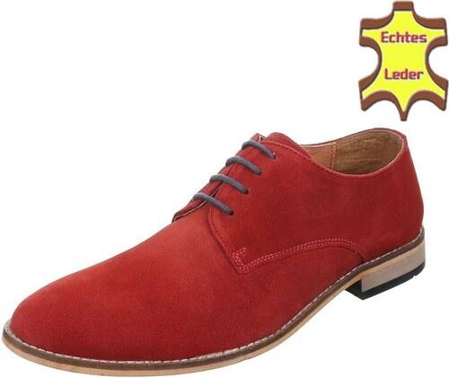fac0ade383fe Moderné červené pánske kožené topánky k nohaviciam a saku - Glami.sk