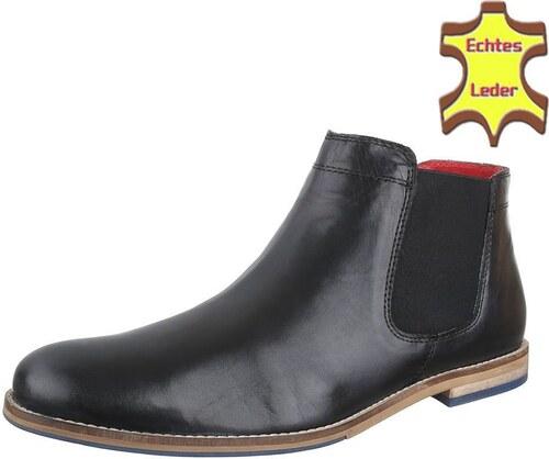 b6fab6f5ae5 Pánské kožené boty Cool Walk - černá barva nazouvací - Glami.cz