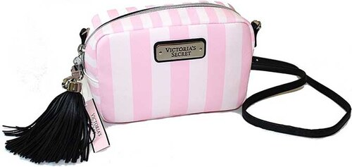 f07c8c9b5f5 Malá kabelka Victoria´s Secret crossbody pink stripe - Glami.cz
