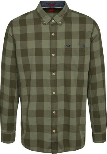 Khaki pánská kostkovaná košile s.Oliver - Glami.cz b34c2d706b