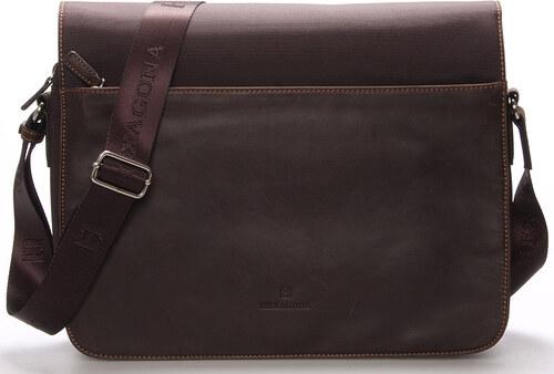 Pánska kožená taška hnedá - Hexagona Tavin hnedá - Glami.sk 2349921a803