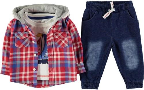 Stylová soupravička pro miminko Crafted Three Piece Košile Set Baby Boys b41a0bf1a4