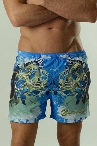 GERONIMO Kvalitní pánské kraťasové plavky modré 31eb294515