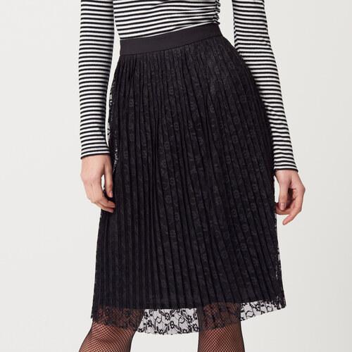 0dbb3c04b93e Mohito - Plisovaná sukňa z čipky - Čierna - Glami.sk