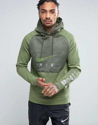 Vert Nike Manches Air Les Avec Sweat Sur Imprimé À Capuche q54A3LRj
