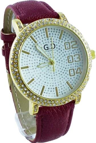 f1142b1fe Dámské hodinky G.D zlato-červené 154D - Glami.cz