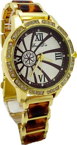 Dámské hodinky Douris Door zlato-hnědé 008D - Glami.cz 4054585e1dd