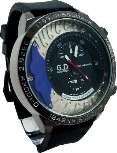 Pánské hodinky G.D Metal černo-modré 222P - Glami.cz 0b1b78d974