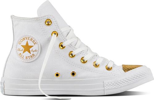 Converse bílo-zlaté dámské kotníkové tenisky CTAS HI White Gold ... 10d589ca1c