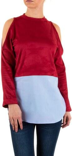 06ea87102e3e Dámska blúzka v červenej farbe s odhalenými ramenami - Glami.sk