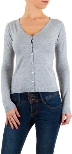 Dámský úplý svetr na knoflíčky šedý - KL-1003-1-grey - Glami.cz c1fcab79b6
