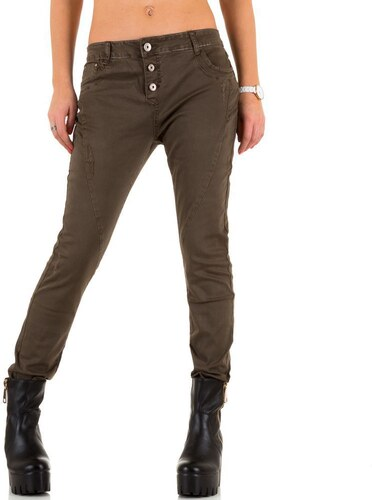 Dámske nohavice na gombíky Best Emilie hnedé - Glami.sk d2307627acb