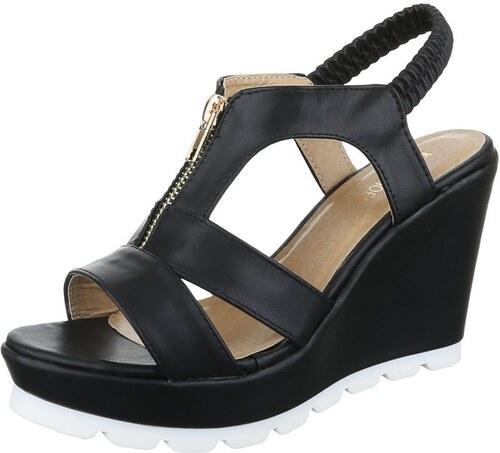ed9a8fd2af03 Dámske čierne sandále s prackami na platforme - Glami.sk
