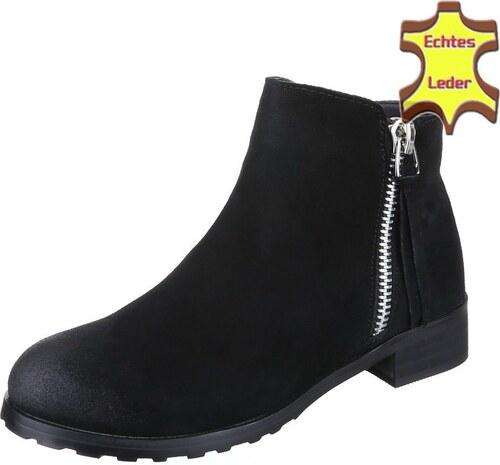 499e0dadb6a9 Nevšedné dámske členkové topánky pre luxusné ženy - model LÍZA 06 čierna  koža