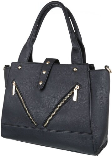 Elegantní dámská větší kabelka s jedním uchem - černá barva - TA-K62-black 454c5502d89