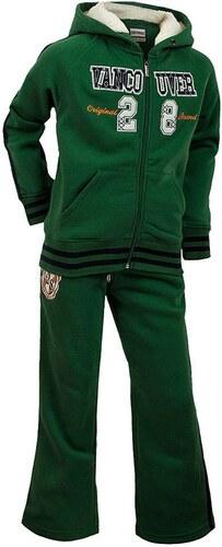 84df4da44fa72 Športová detská tepláková súprava - zelená s kapucňou - Glami.sk