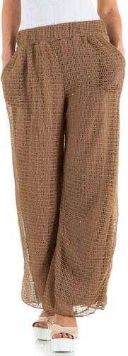 Best Emilie nohavice pre ženy zvonáče hnedé - Glami.sk c2a0229e04b