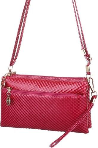 b7ed978893 Dámska mini kabelka cez plece - slivkovo fialová až červená farba ...