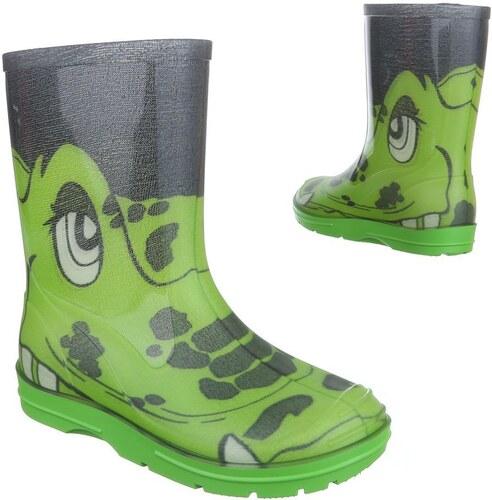 Detské gumáky nízke s krokodílom zelené - Glami.sk 0f498401347