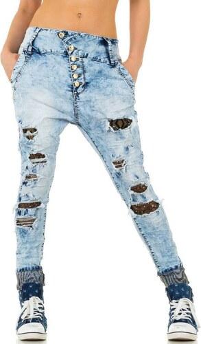 cd766a951b1 Dámské hodně roztrhané džíny - světle modré - ZYY755 KL-J-E1280-L ...