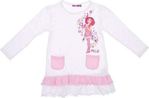 078c3b0573b7 Detské dlhé šaty pre dievčatá - biele s obrázkami - Glami.sk