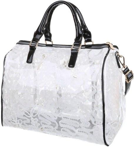 a94a9e3eaa Lesklá dámska kabelka model BIG FASHION - čierna biela - Glami.sk