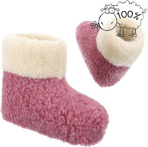 10f7612330 Teplé dámske papuče v ružovej farbe - Glami.sk