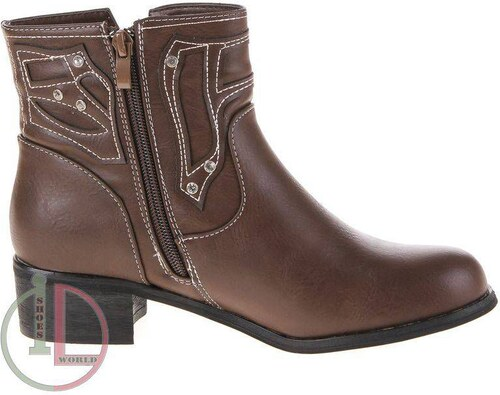 c6257846dcf12 Kvalitné dámske topánky s bočným zipsom - khaki farba - Glami.sk