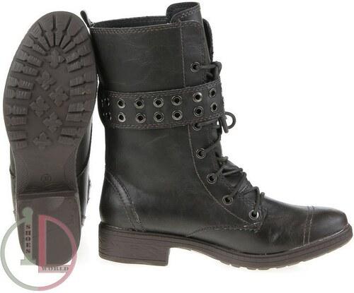 48e3fbf47b541 Dámske pevné topánky šnurovacie s prackou - kávová farba - Glami.sk