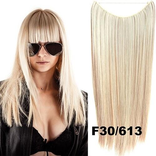 Flip in vlasy - 55 cm dlouhý pás vlasů - odstín F30 613 - Světové Zboží 4d32cd0c93