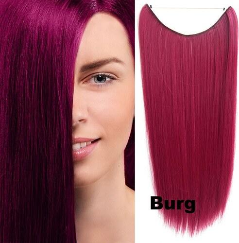 Flip in vlasy - 55 cm dlouhý pás vlasů - odstín BURG - Světové Zboží ... d38daa4f0f