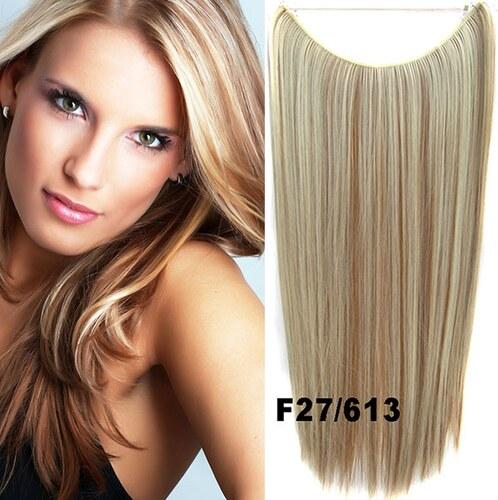 Flip in vlasy - 55 cm dlouhý pás vlasů - odstín F27 613 - Světové Zboží 045dd1bb9b