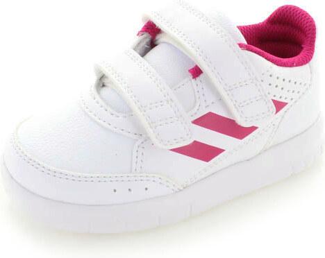 adidas NEO Dětské bílo-růžové tenisky ADIDAS AltaSport CF I - Glami.cz 5bdf1a6633