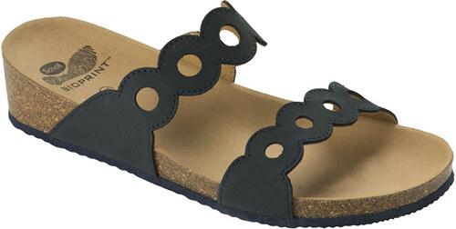 0624f2b3c35e Scholl Dámske papuče Odelia Bioprint Navy Blue F265541040 - Glami.sk