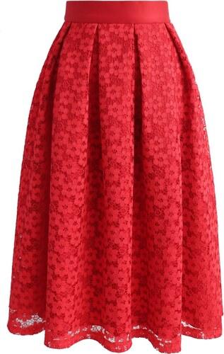 3d62acd4ab17 CHICWISH Dámská sukně Midi Twirl červená - Glami.cz