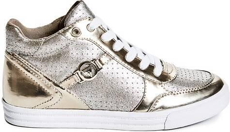 GUESS Dámské kotníkové tenisky Gerree High-Top Sneakers - silver ... 4b29f60421