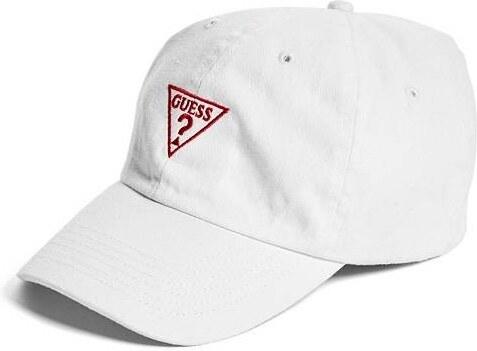 GUESS Kšiltovka Denim Logo Baseball Hat - white - Glami.cz d175caff0c