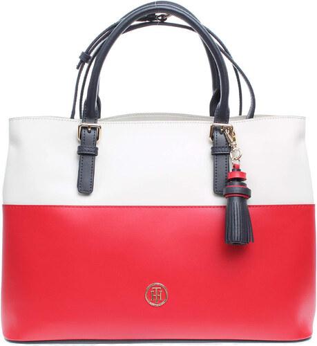 Tommy Hilfiger dámská kabelka AW0AW04047 červená-bílá - Glami.sk dade4f70ad9