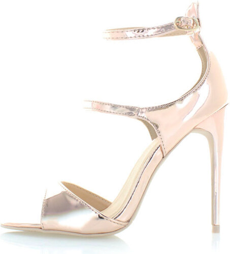 856723e3b4d1 Tom Eva Ružovo-zlaté sandále Zoe - Glami.sk