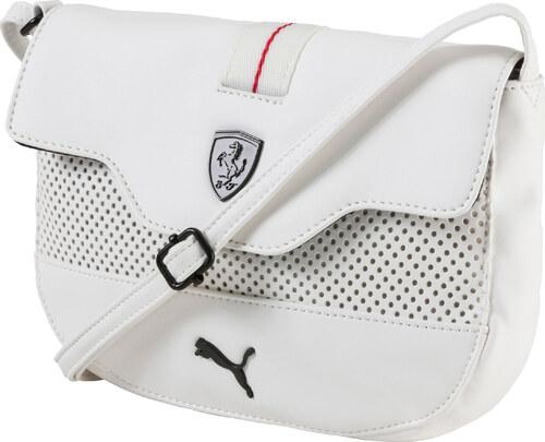 2bd97bfeb9 Dámská taška PUMA FERRARI LS SMALL SATCHEL 07451303 WHITE - Glami.cz