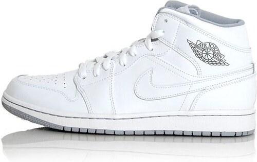 Air Jordan 1 Mid White White Grey 554724-112 - Glami.sk 2ba0aa0f475