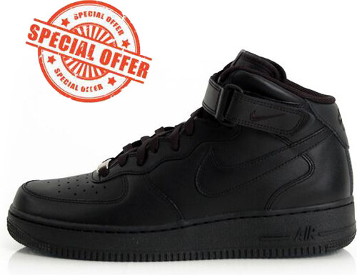 quality design 26344 97fc4 Nike WMNS Air Force 1 Mid `07 LE Black Black 366731-001