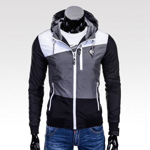 1ce4bc20aa8 Ombre Clothing Moderní pánská podzimní bunda Ralph černá - Glami.cz