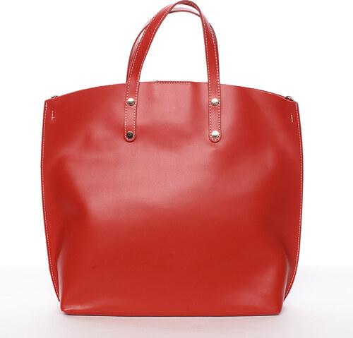 969e321de0 Dámská kožená kabelka do ruky světle červená - ItalY Sydney červená ...