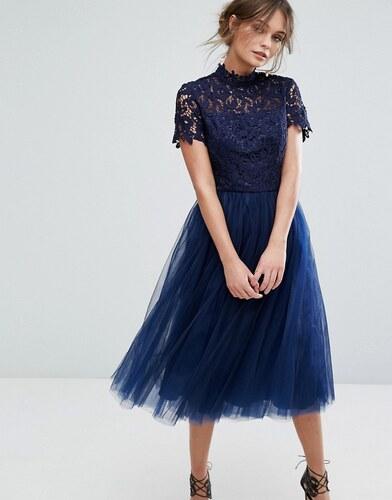 Robe en tulle bleu