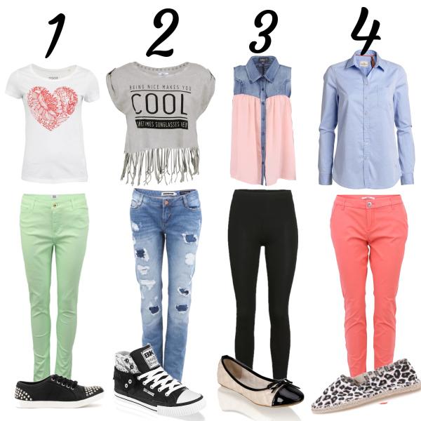 školní outfity...... jáký bude ten tvůj ??? ♥
