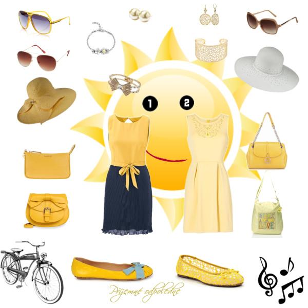 letní top alias yellow day