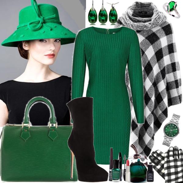 Smaragdová s kostkou