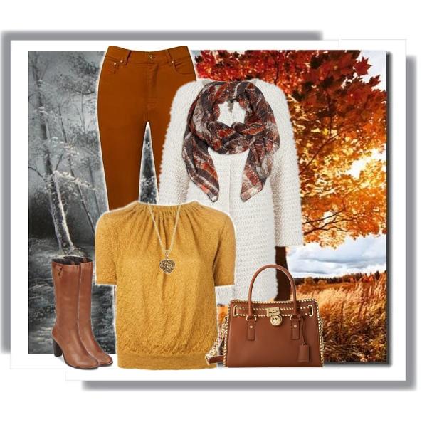 Kalhoty v barvách podzimu