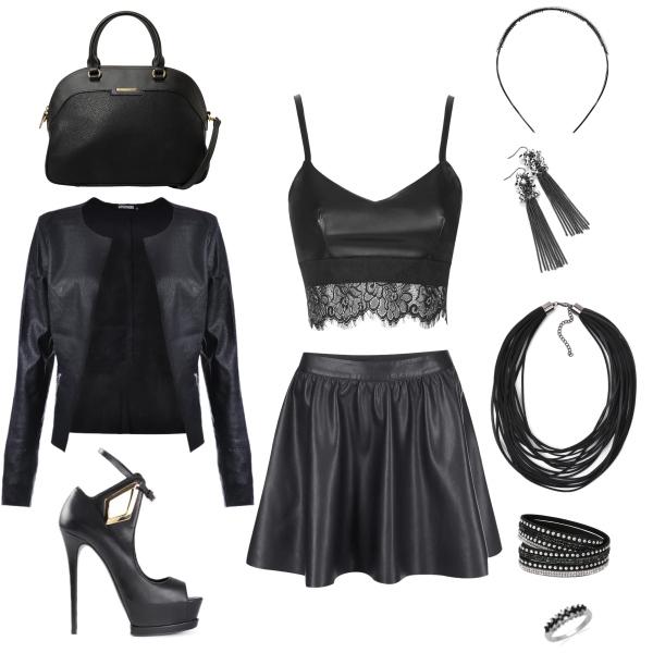 kožený outfit